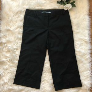 NWT JCrew City Fit Wool Cropped Pants Black